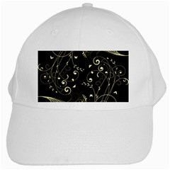 Floral Design White Cap