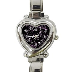 Floral Design Heart Italian Charm Watch