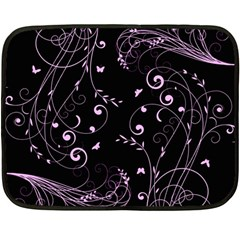 Floral Design Fleece Blanket (mini)