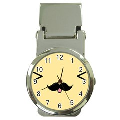 Mustache Money Clip Watches by Nexatart