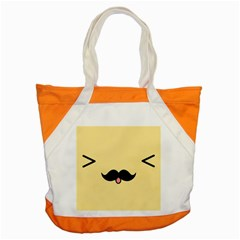 Mustache Accent Tote Bag by Nexatart
