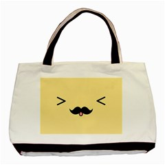 Mustache Basic Tote Bag (two Sides)