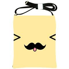 Mustache Shoulder Sling Bags by Nexatart