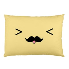 Mustache Pillow Case (two Sides) by Nexatart