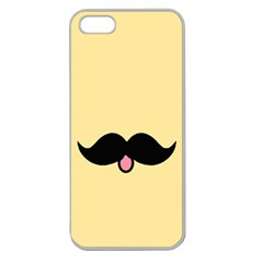 Mustache Apple Seamless Iphone 5 Case (clear)