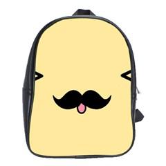 Mustache School Bags (xl)