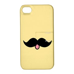 Mustache Apple Iphone 4/4s Hardshell Case With Stand