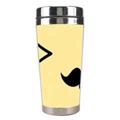 Mustache Stainless Steel Travel Tumblers by Nexatart