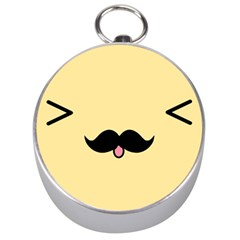 Mustache Silver Compasses by Nexatart