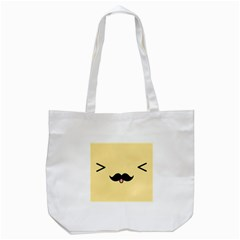 Mustache Tote Bag (white)