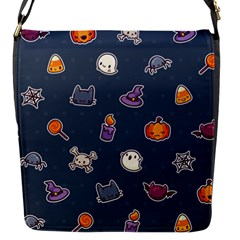 Kawaiieen Pattern Flap Messenger Bag (s)