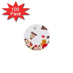 Chocopa Panda 1  Mini Buttons (100 Pack)