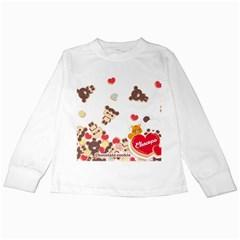 Chocopa Panda Kids Long Sleeve T Shirts