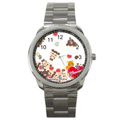 Chocopa Panda Sport Metal Watch