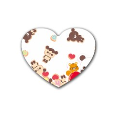 Chocopa Panda Rubber Coaster (heart)