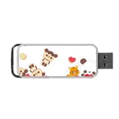 Chocopa Panda Portable Usb Flash (two Sides) by Nexatart