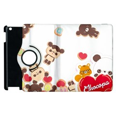 Chocopa Panda Apple Ipad 2 Flip 360 Case by Nexatart