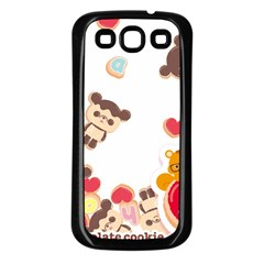 Chocopa Panda Samsung Galaxy S3 Back Case (black) by Nexatart