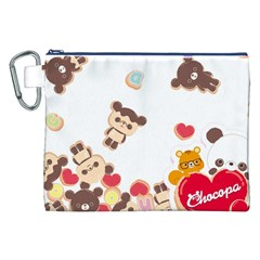 Chocopa Panda Canvas Cosmetic Bag (xxl) by Nexatart