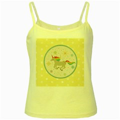 Unicorn Pattern Yellow Spaghetti Tank