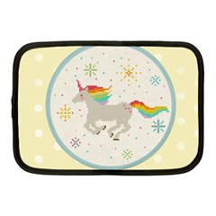 Unicorn Pattern Netbook Case (medium)  by Nexatart