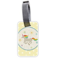 Unicorn Pattern Luggage Tags (one Side)  by Nexatart