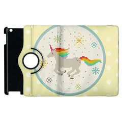 Unicorn Pattern Apple Ipad 2 Flip 360 Case