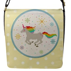 Unicorn Pattern Flap Messenger Bag (s)