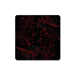 Floral Design Square Magnet