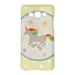 Unicorn Pattern Samsung Galaxy A5 Hardshell Case  by Nexatart