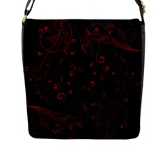 Floral design Flap Messenger Bag (L)