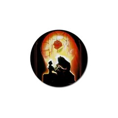 Beauty And The Beast Golf Ball Marker (10 Pack) by Nexatart