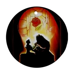 Beauty And The Beast Round Ornament (two Sides) by Nexatart