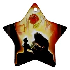 Beauty And The Beast Star Ornament (two Sides) by Nexatart