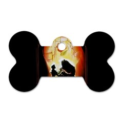 Beauty And The Beast Dog Tag Bone (two Sides) by Nexatart