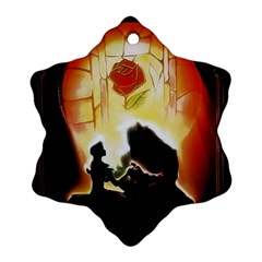 Beauty And The Beast Ornament (snowflake) by Nexatart