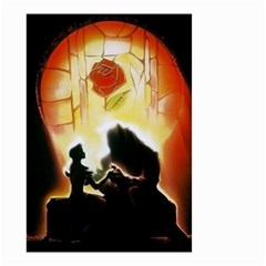 Beauty And The Beast Small Garden Flag (two Sides) by Nexatart