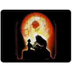 Beauty And The Beast Double Sided Fleece Blanket (large)  by Nexatart