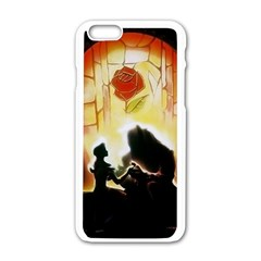 Beauty And The Beast Apple Iphone 6/6s White Enamel Case by Nexatart