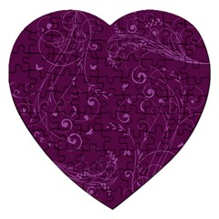 Floral Design Jigsaw Puzzle (heart)