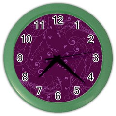 Floral Design Color Wall Clocks by ValentinaDesign