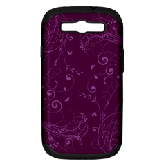 Floral Design Samsung Galaxy S Iii Hardshell Case (pc+silicone) by ValentinaDesign
