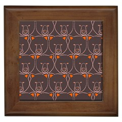 Bears Pattern Framed Tiles by Nexatart