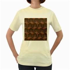 Bears Pattern Women s Yellow T Shirt by Nexatart