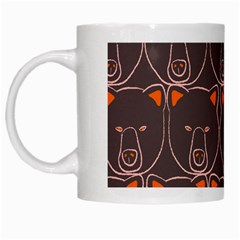 Bears Pattern White Mugs