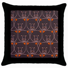 Bears Pattern Throw Pillow Case (black)