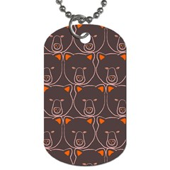 Bears Pattern Dog Tag (two Sides) by Nexatart