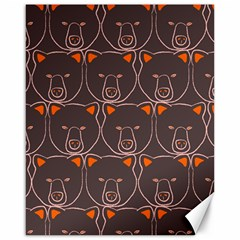 Bears Pattern Canvas 16  X 20