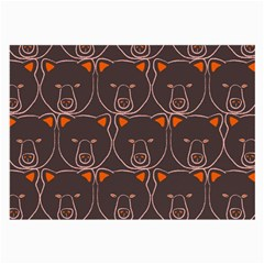 Bears Pattern Large Glasses Cloth (2 Side)