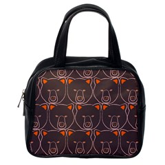 Bears Pattern Classic Handbags (one Side) by Nexatart